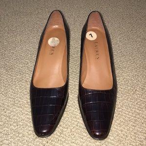 Ralph Lauren Spanish Leather Heels, Size 7